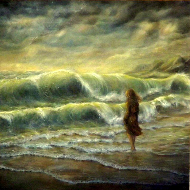 Mer jbillustration - Peindre sur de la peinture brillante ...
